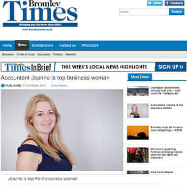 Bells Accountants Bromley Times press article KWIB