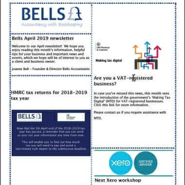Bells Accountants - newsletter april