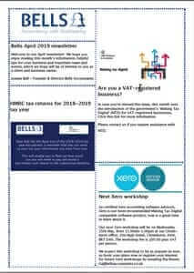 Read our April 2019 Newsletter - Bells Accountants