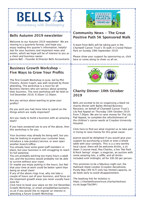 Read our Autumn 2019 Newsletter