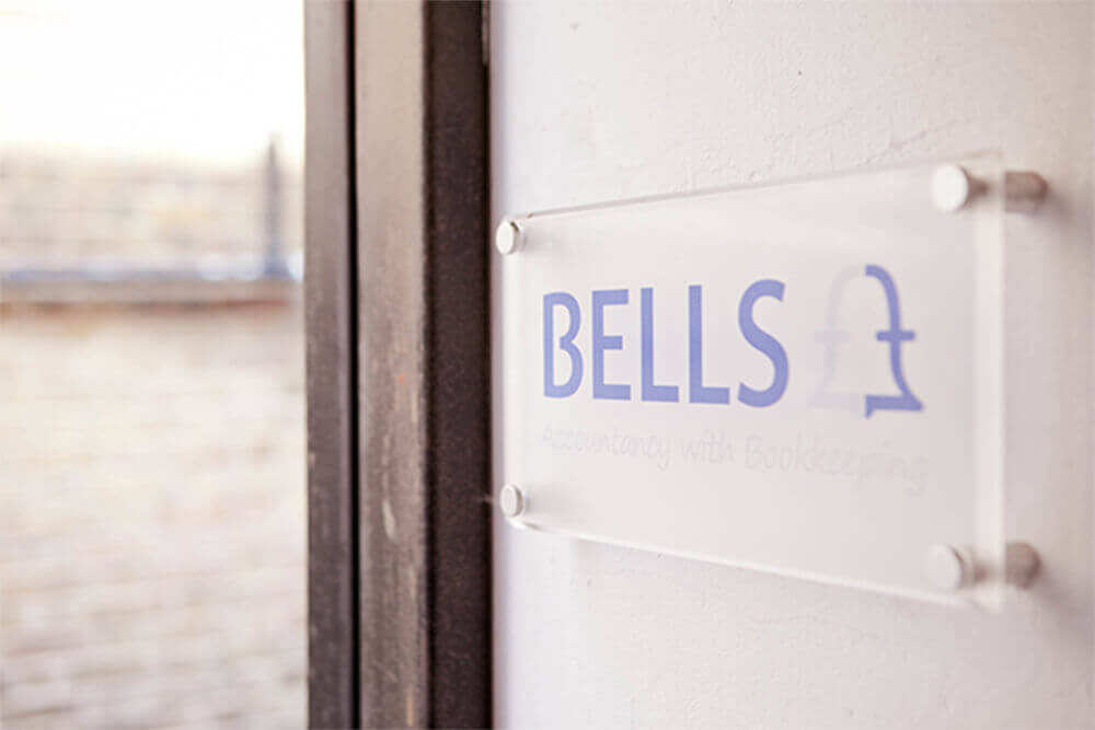Bells Offices sign on wall